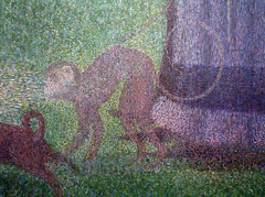 Seurat, A Sunday on La Grande Jatte—1884, detail with monkey