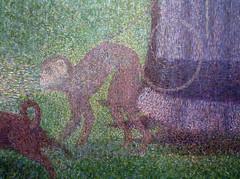 Seurat, A Sunday on La Grande Jatte—1884, detail with monkey