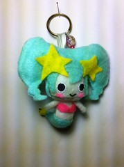 Kawaii Pet Megu - MERMET mini plushie keychain ^_^ (PedestrianXArt) Tags: pet game cute art japan toy japanese fan keychain doll handmade character cartoon adorable mini felt ufo application plush plushies fanart kawaii figure mermaid catcher app megu iphone baly mermet goggot
