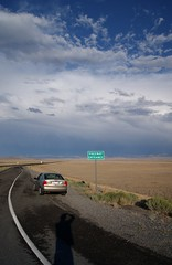 Heading into a Storm (J R Webb) Tags: storm ford clouds focus 2000 desert onramp i80 zts