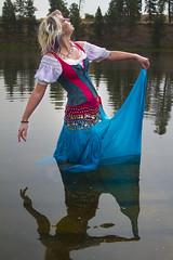 Vienna (austinspace) Tags: portrait woman water swim washington spokane blond blonde cheney amberlake