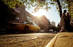 New York facets - Watching NY from a rat's eyes #2 (_Franck Michel_) Tags: street sun sol yellow jaune soleil cab taxi ground rue mygearandme mygearandmepremium