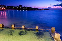 Beneath the Pool (sebr) Tags: longexposure pink blue beach water sunrise dawn twilight purple oceanbeach coogee nauticaltwilight