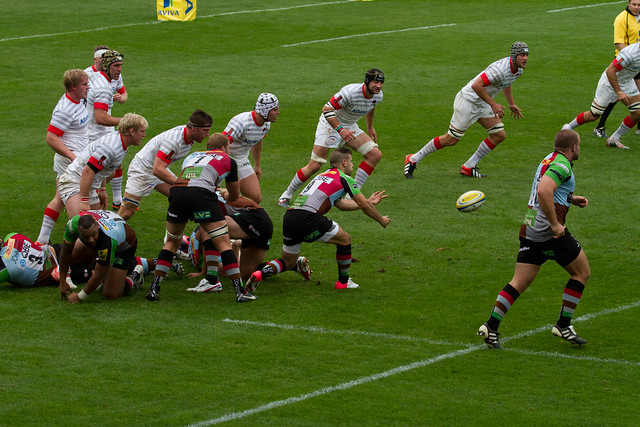 Danny Care clears from a scrum