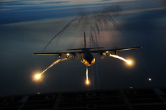 Night Formation Training (The National Guard) Tags: new york ny night training niagarafalls us military flight nationalguard mission airforce troops flares airman airmen airguard nyang nyng nfars 107thaw