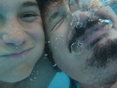 underwater selfie (Seakayem) Tags: water pool underwater father son resort panasonic queensland fatherandson magneticisland townsville waterproof selfie muckaround