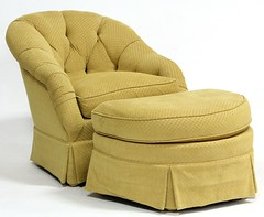 13. Over Upholstered Club Chair and Ottoman