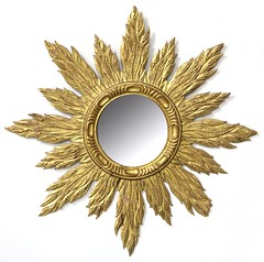 17. Carved and Gilt Wood Mirror