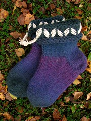2012.09.19. tossukat hahtuvalankaa 002m (villanne123) Tags: socks 2012 lovikka sukat tossut tossukat 2012sukkasato lovikkasukat