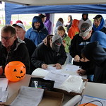 Despite the weather, several drivers took advantage of the early registration period on Friday afternoon