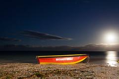 Security Boat on Palmar Beach - Mauritius (digital_slice) Tags: moon beach canon 350d long exposure mare maurice kitlens ile security september veranda belle mauritius 2012 palmar