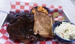 Community Q Dinner Tray 1 of 2 (Snappy_Snaps) Tags: atlanta food usa ga bbq ribs barbeque