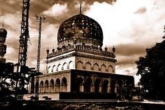 Abdullah Qutb Shah Tomb (iamrawat) Tags: sepia ap hyderabad shah qutb abdullah andhrapradesh historicindia golkondafort qutbshahitombs shahitombs abdullahqutbshahtomb