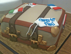 Suitcase Travel Birthday Cake