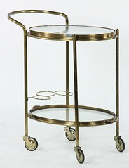 38. Brass Drinks Cart