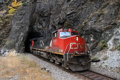 Yale Tunnel (Moffat Road) Tags: railroad canada cn train bc britishcolumbia tunnel yale frasercanyon canadiannational graintrain yaletunnel naturaltunnelportal