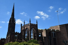 Coventry. 12th century Cathedral, ruins. (Anne & David (Use Albums)) Tags: coventrycathedral 12th century ruins second cathedral coventry suttonpark ladygodiva naked