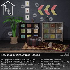 [ht:home] flea market treasures gacha key (Corvus Szpiegel) Tags: life wood original plant home beer pose bag carpet this leaf bottle shiny colorful candle wine mesh market cabinet furniture map chest chinese decoration picture puff sl secondlife single frame drawer hate pouffe second vase rug tropic stick material arrow normal ottoman colourful specular sack ht oriental flea boho decor deco cupboard pouf drawers bohemian materials treasures holder burlap shabby enabled tropcial hatethis