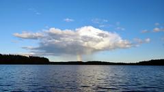 Personal rain (pentars) Tags: cloud rain rainbow lake sky weather nature landscape view scenery beautiful blue summer pentax k5ii sigma 1020