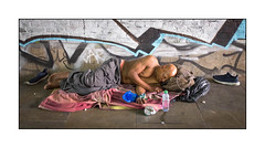 Homeless Man at Rest, East London, England. (Joseph O'Malley64) Tags: homeless homelessman bereft excluded destitute vulnerable