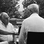 Gentlemen discussin in Ancona, Italy thumbnail