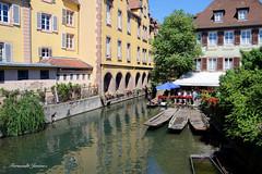 Colmar (alanchanflor) Tags: río francia colmar barca reflejo canon