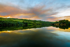 Fire clouds (Artur Tomaz Photography) Tags: clouds damp doriver sky nature sunset trees water smoke fire