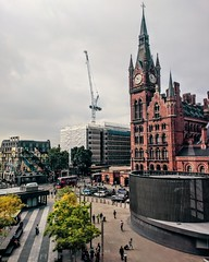 St Pancras from Kings Cross Roof (Greasy Beans) Tags: london city cityscape rooftop stpancras landscape uk