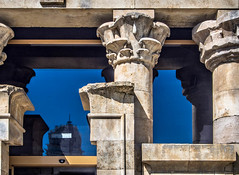 At The Temple (derek.dpr) Tags: temple architecture architectural column columns stonework stone capital detail madrid olympus omd em5