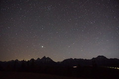 Dozens of stars and the Tetons. (Danny Edwardo) Tags: nationalpark grandtetons wyoming usa mountains mountain nature camping sky astro