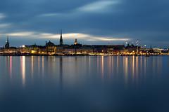 Stockholm at Night (Mefaso) Tags: stockholm sweden night sky sea city skyline cityscape long exposure