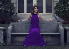 Katya (Arthur Kantemirov) Tags: fashion bench sitting model high above purple dress slim tight female girl arrogant arrogance passion lust katya frash arthurkantemirovphotography purpledress highclass classy simmetry
