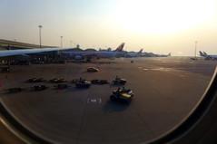 the airport (domit) Tags: airport hongkong china tarmac sundown kal korean airlines
