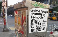 Seattle Street Art (sea turtle) Tags: seattle capitolhill graffiti streetart poster pine pinestreet 12th 12thavenue jaime thebionicwoman bionicwoman lindsaywagner jaimesummers bionic 1970s