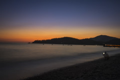 Tranquility (Angela Grant photography (Not enough hours in the ) Tags: oludeniz turkey fethiye beach sunset ocean sea landscape coast sky shore travel long exposure sun mountain