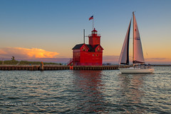 DSC_9268 Copy (David W. Behrens) Tags: michigan holland lakemichigan hollandmichigan lighthouse sailboat sunset dusk bigred westmichigan summer 2016 august hollandlighthouse puremichigan nikond810