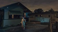 Night People [#10 of x]: Lawn Care (Explored) (Noah Stephens) Tags: womansmokingcigaretteatnight nightphotography pictureofpeopleatnight nightportraits nightstreetportraits nightpeople noahstephens explored