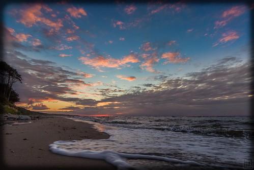 Sonnenuntergang am Strand Heiligendamm