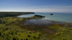 Mertaugh addition to the Birge Nature Preserve (Odalaigh) Tags: lake huron hessel michigan water reeds rocks shoreline unspoiled natural drone unitedstates us
