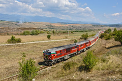 Big train on the small railway (Rivo 23) Tags: bdz bulgarian state railways 760 mm railway line septemvri dobrinishte diesel locomotive class 77 009 75 006