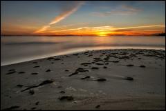 Sunset (Jonas Thomn) Tags: sunset solnedgng longexposure lngexponering nd400 filter sea hav havet sand vatten water clouds moln sjgrs seaweed