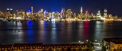 Shining City (Joe Rebello) Tags: manhattan nyc newyorker waterfront empirestatebuilding nj newyork nightscape weehawken redwhiteandblue urban cityscape midtown hamiltonpark