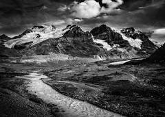 Columbia Icefields, Jasper National Park. (Explore) (Dan Fleury Photos) Tags: 6d canon cans2s landscape rockies mono white black bnw glaciers mountains parkscanada ab alberta jasper canada ca