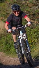 Winni Jørgensen på mountainbike