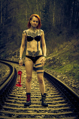 Jokers Harley Quinn 09 (bohumil.klein) Tags: yellow female nude naked model girl nymph nudity bottom ass cute women woman sexy sensual people modeling lighting light gorgeous glow glamour girls elegant eos7d eos color canon canoneos7d beauty beautiful pretty portrait posing pose submission tied shackles chains     slave