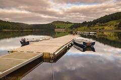 Ladybower  Resevoir (Trojan Wonder) Tags: lady bower resevoir water jetty boats still calm sceneic hills