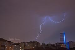 Evimden Manzaralar (Kalem ve Mum) Tags: sky night lightning gökyüzü gece yıldırım