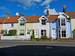 Aldeburgh, Suffolk (DaveJC90) Tags: road old blue light sea summer sky cloud sun sunlight house colour detail building classic beach beautiful shop bay town suffolk seaside colours sunny august sharp aldeburgh sharpness