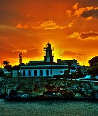 Sa Farola sunset. (ib@rik) Tags: sunset lighthouse faro island mediterranean mediterraneo menorca baleares balearic balears