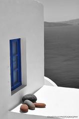 santorini Greece (CHAIDOULIS) Tags: lighthouse church colors island panoramas santorini greece cyclades supershot